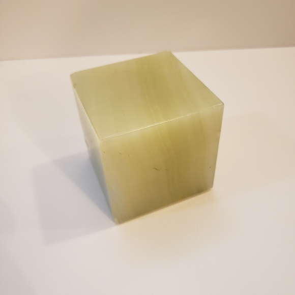 Vintage Sage Green Marble Paperweight Square